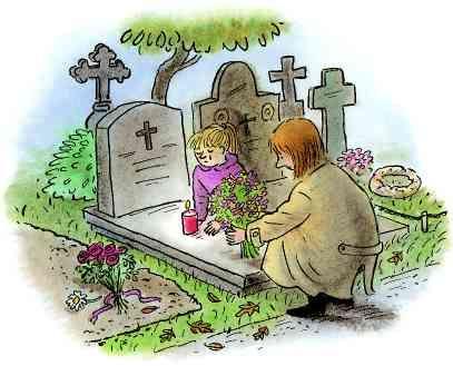 Nu dat haar moeder gestorven is, ging ... elke dag naar het kerkhof. Dat lag niet zo ver vaan haar huis. Ze vertelde elke dag wat ze heeft meegemaakt en hoe bizar het ook klinkt maar ze praatte tegen haar moeder enze zei dat haar moeder iets terug zei.