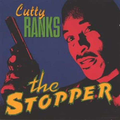 """Great B-Movie / Grindhouse album cover art from Cutty Ranks 1991 release """"The Stopper"""" http://reggaealbumcovers.com/2010/04/cutty-ranks-the-stopper/"""
