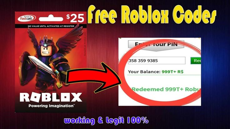 Free Roblox Codes - how to get free robux 2018 - robux ...