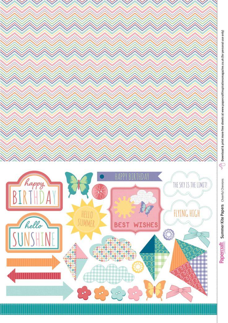 Free digital papers – Summer Kites