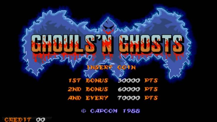 Ghouls'n Ghosts 1988 Capcom Mame Retro Arcade Games - YouTube