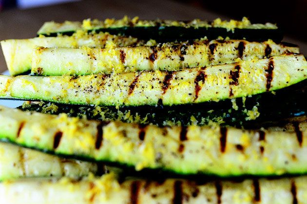 Yum, Grilled Zucchini with Lemon Salt, will try this tomorrow (as we are overloaded with zuchini's in our garden and start to run out of ideas :)