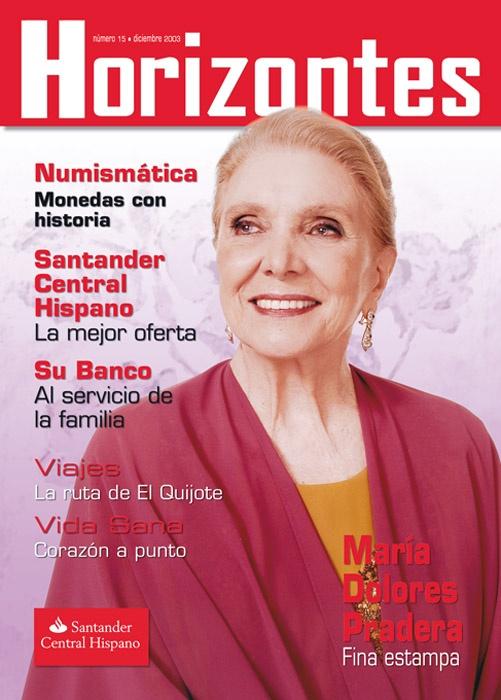 Portada Revista Horizontes.  Santander Central Hispano