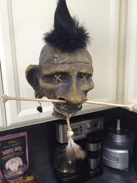 shrunken head made by Pumpkin5 Halloween Forum