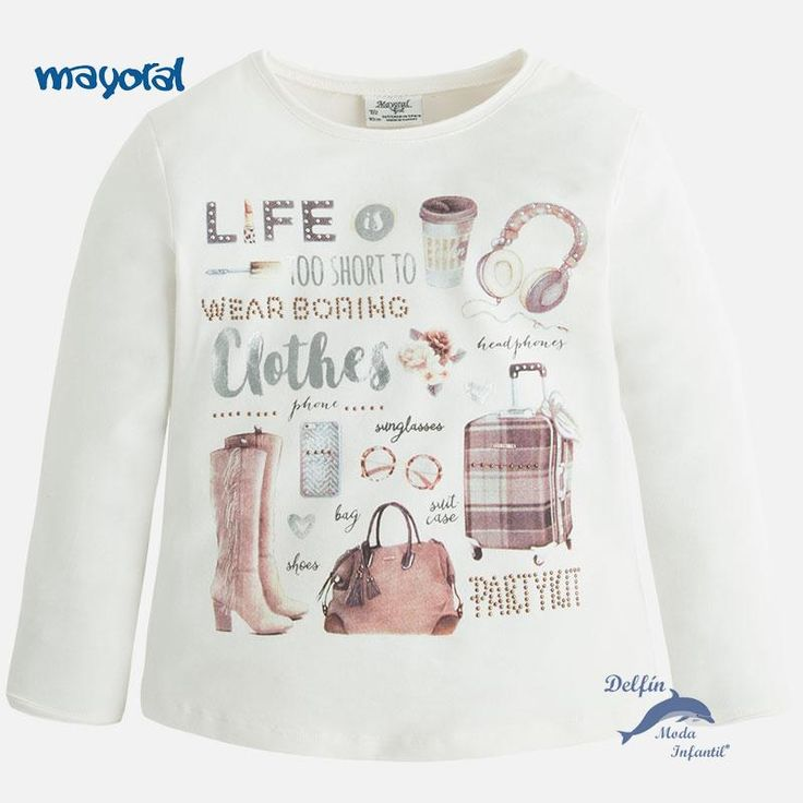 """Camiseta de niña MAYORAL manga larga accesorios """"clothes"""""""
