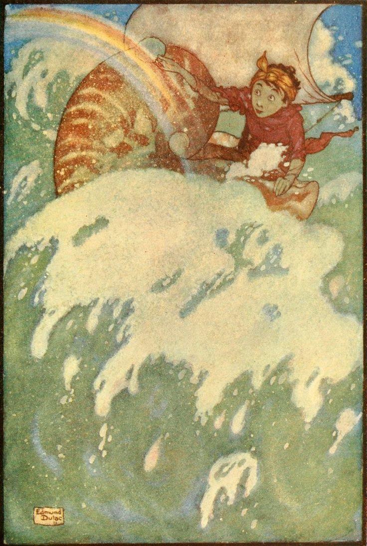 Edmund Dulac: Sea Fairy and Land Fairy