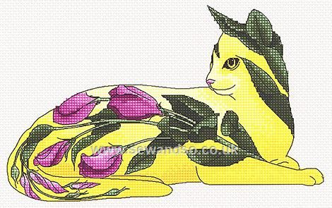 Buy Texas Rose Cat Chart Online at www.sewandso.co.uk
