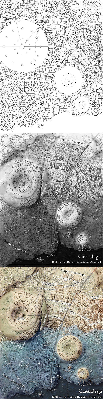 Map of the sunken city of Ankeshel