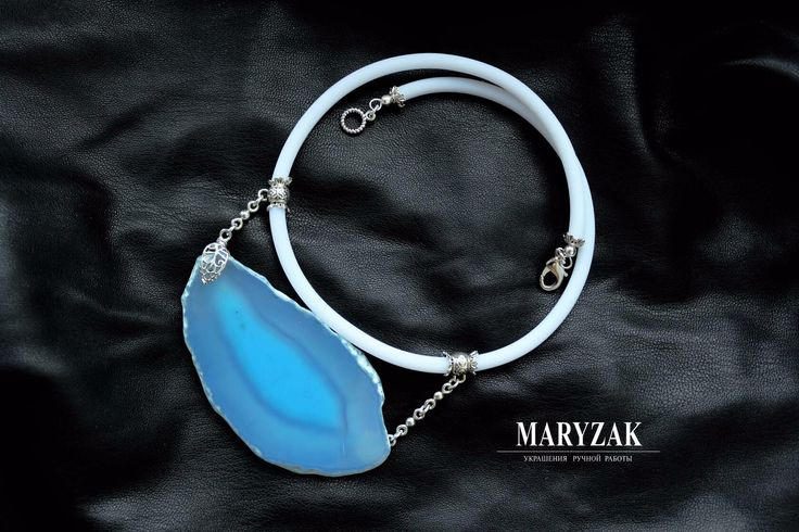 Колье со срезом тонированного Агата. Эксклюзивный авторский дизайн. #maryzak #fashion #jewerly #look #мода #красота #стиль #колье #ручнаяработа
