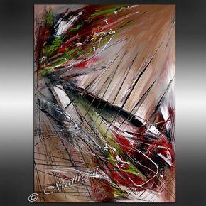 Originale grande pittura astratta su tela per la parete grande ufficio o soggiorno. Altri quadri disponibili qui: