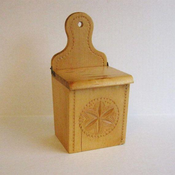Vintage Wooden Match Holder on Etsy, $20.00