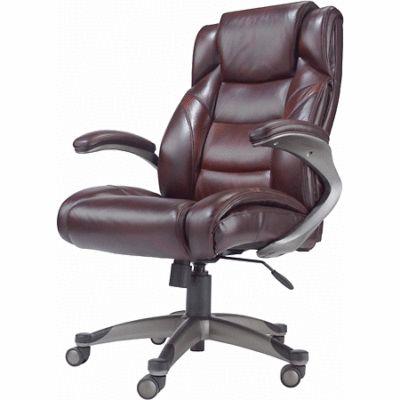 cadeiras de escritorio em couro marrom com rodinhas