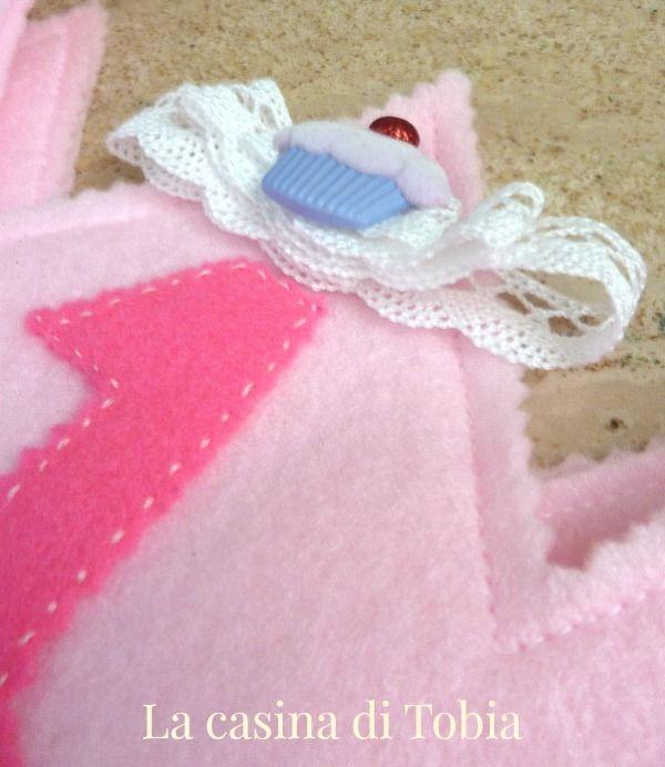 La Casina di Tobia: Coroncina baby compleanno per bambina