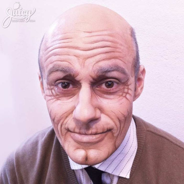 Old Age Makeup. With a little makeup we can turn a guy in his 20s into his grandpa! Professional face paint only, no prosthetics used.  |  MUA: Susanne Daoud  |  Model: Nick Kesidis  |  See more at www.juicybodyart.com