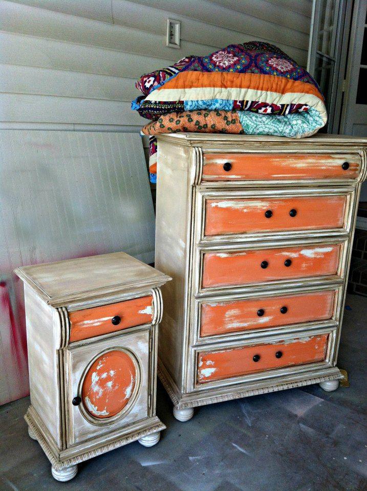 Bedroom Furniture Redo best 20+ orange dresser ideas on pinterest | diy orange furniture