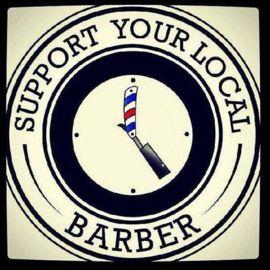 order now on http://www.koolcarpics.nl/a-46720799/rond/support-your-local-barber/ #koolcarpics #lsupportyourlocalbarber #barbershop #round #wood #handmade