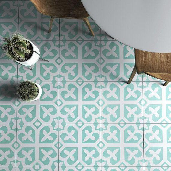 Mosaic Wall Art Vinyl Floor Tiles Kitchen Wall Decor Etsy Vinyl Flooring Tile Decals Tile Floor