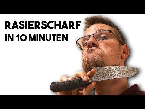 Messer Schärfen lernen in 10 Minuten im Schärfkurs Online – YouTube