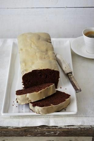 Schoko-Kirsch-Kuchen mit Baileys-Glasur Rezept - klingt absolut verführerisch - hmmmmmmmmmm