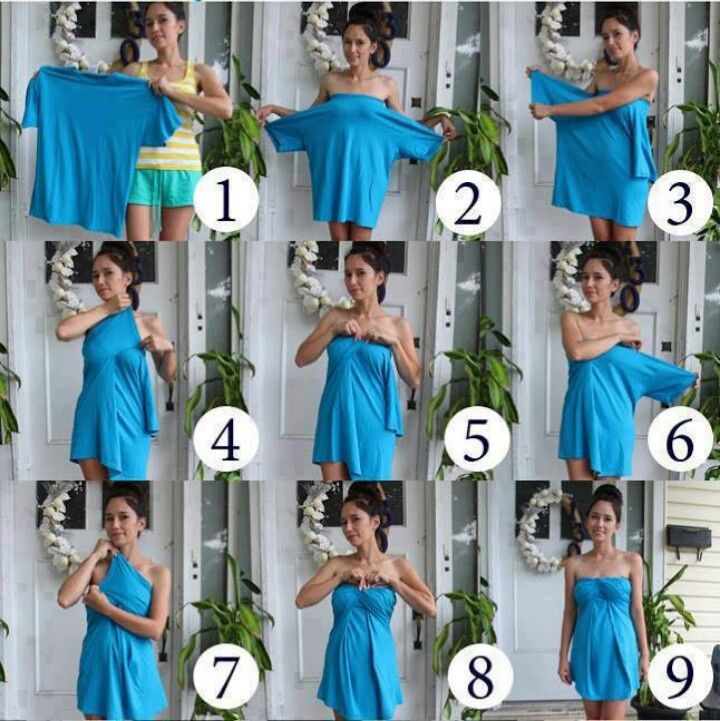 How to turn a boy's T-shirt into a dress!