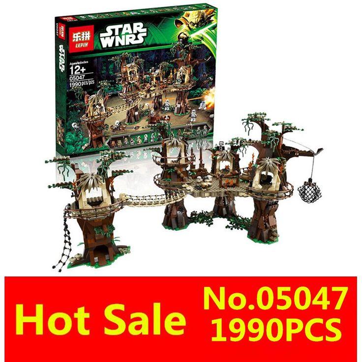 LEPIN 1990pcs 05047 Yıldız Savaşları Ewok Köyü Yapı Taşları Construir Tuğlalar Noel Hediyesi Oyuncakları 10236