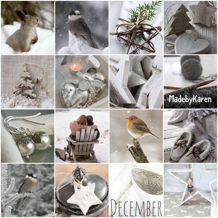 Kerst winter foto's collage gemaakt. Moodboard winter.