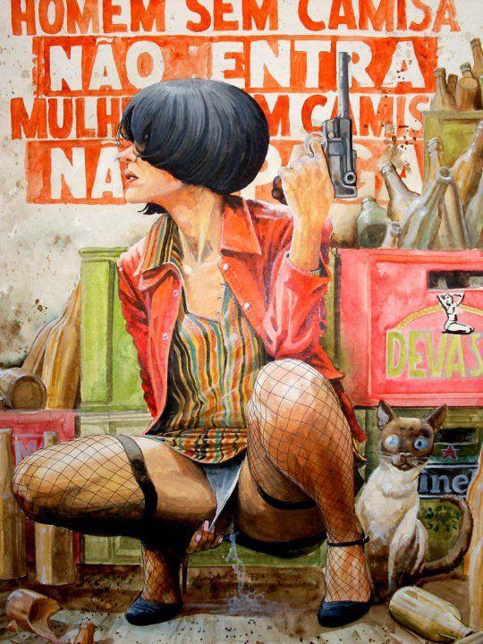 Llamativas y descaradas illustraciones de Francisco Leite