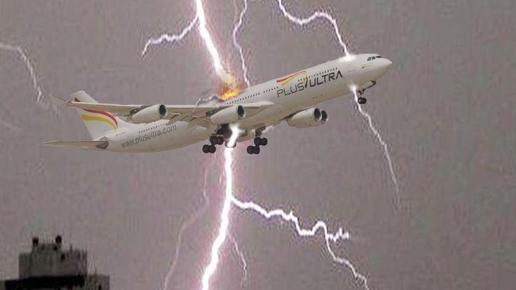 Aviões atingido por raios e relâmpagos ✱Tempestades vs Boeing - Airbus #4
