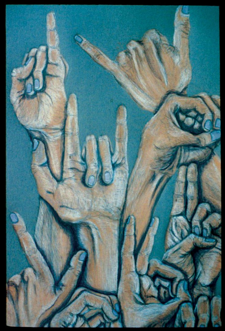 Melissa Regas (Deaf Artist) ASL art - ILY .. Absolutely beautiful