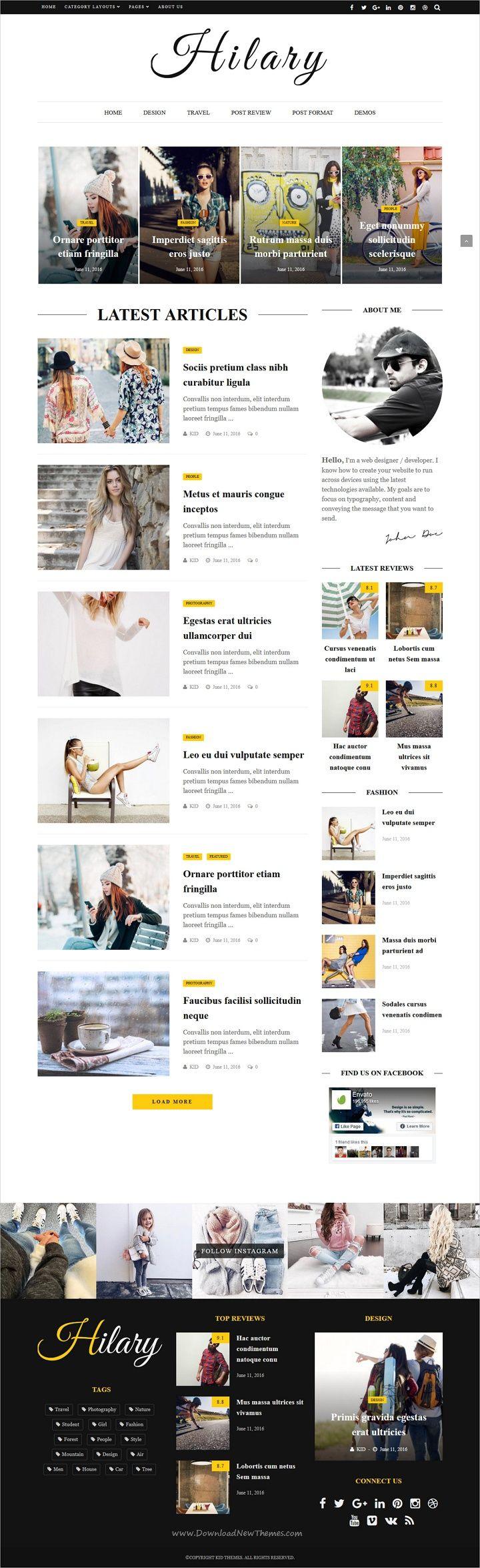 Hilary is premium flat, clean, super flexible #WordPress theme for #blogideas magazine, news or blog websites with 31 unique homepage layouts download now➩  https://themeforest.net/item/hilary-fast-clean-flexible-wordpress-magazine-news-blog-theme/19078044?ref=Datasata