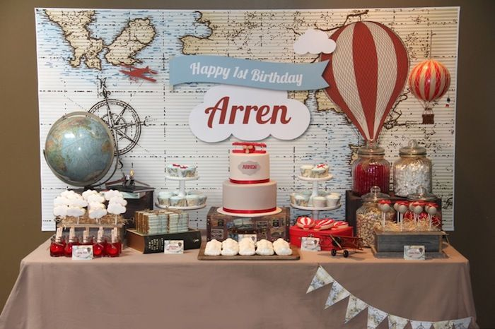 Up & Away Travel Themed 1st Birthday Party {Planning,Decor, Ideas}
