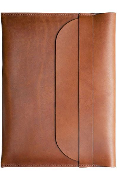 Brown Leather iPad Sleeve for Father's Day