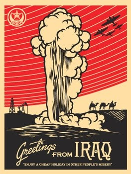 Greetings from Iraq   Shepard Fairey   2005  Transition Marketing Services   Okanagan Small Business Marketing & Branding http://www.transitionmarketing.ca