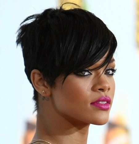 Rihanna Short Hairstyles - See lots of stunning short hairstyles for black women at 1966mag.com!
