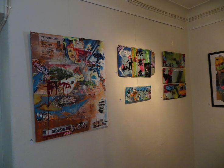 Picture from an artshow I held at Factory Street Gallery in july 2014. #art #canvas #suomitaide #helsinkidesign #helsinkitaide