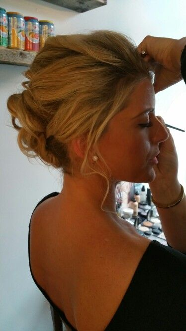 #soft #romantic #updo by us