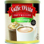 Caffe D'Vita Irish Cream Instant Cappuccino Mix 16 Ounces (Pack of 6) *** Check out the image by visiting the link. #Coffee