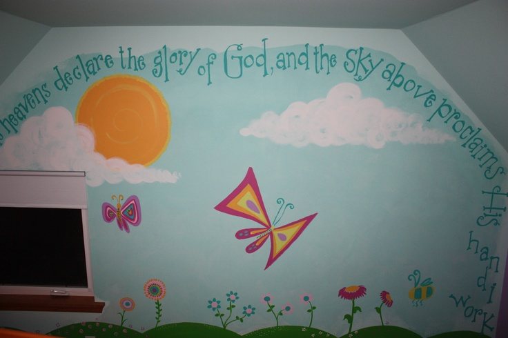 painting wall murals church nursery mural ideas pinterest