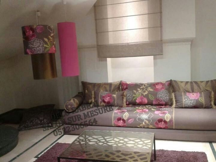 Salon marocain salon marocain moderne pinterest beds for Decoration orientale moderne salon