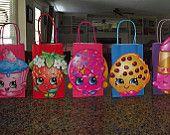 Shopkins partido bolsas, bolsas de Goody de Shopkins, Shopkins cumpleaños, partido de Shopkins, conjunto de 8, un montón de colores para elegir, listo para enviar!