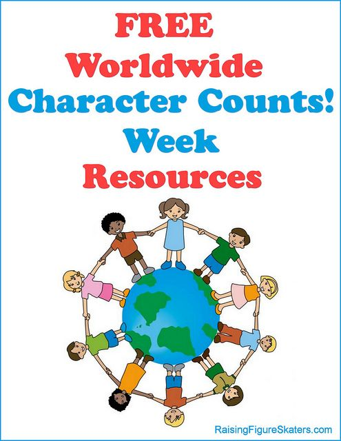 October 21-27 is Worldwide Character Counts! Week! Schools and individuals can register to receive some great free character-education resources from the Josephson Institute. These are wonderful for teachers and homeschoolers! I especially love the free video streaming from Film Clips for Character Education for 2 weeks. You'll find links to lots of free character-education resources of all kinds in my Character Counts! Week posts.