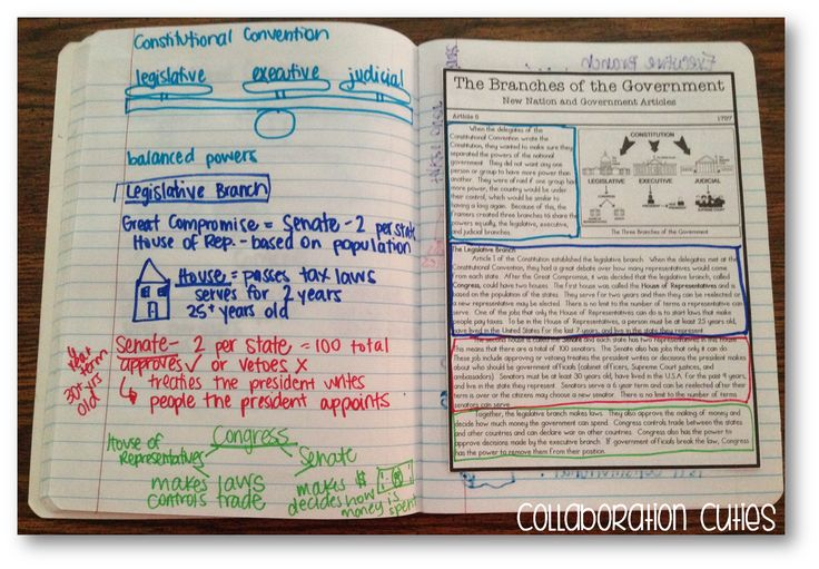 New Nation and Government Nonfiction Articles and Interactive Notetaking for Social Studies notebooks.