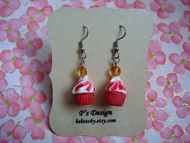 not bad: French Hook, Hook Earwire, Design Miniatures, Red Velvet Cupcakes, Yummy Red, Flickr Surgical, Surgical French, P S Design