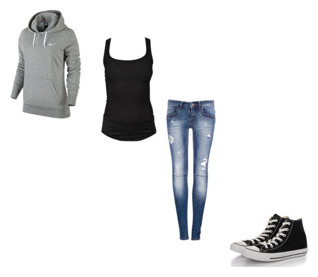 """""""#391"""" by aureeliet on Polyvore featuring Pull&Bear, NIKE, Isabel Marant and Converse"""