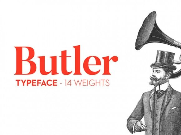 The fabulous Butler Free Font by the graphic designer Fabian De Smet