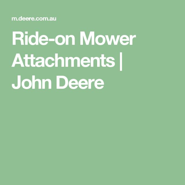 Ride-on Mower Attachments   JohnDeere
