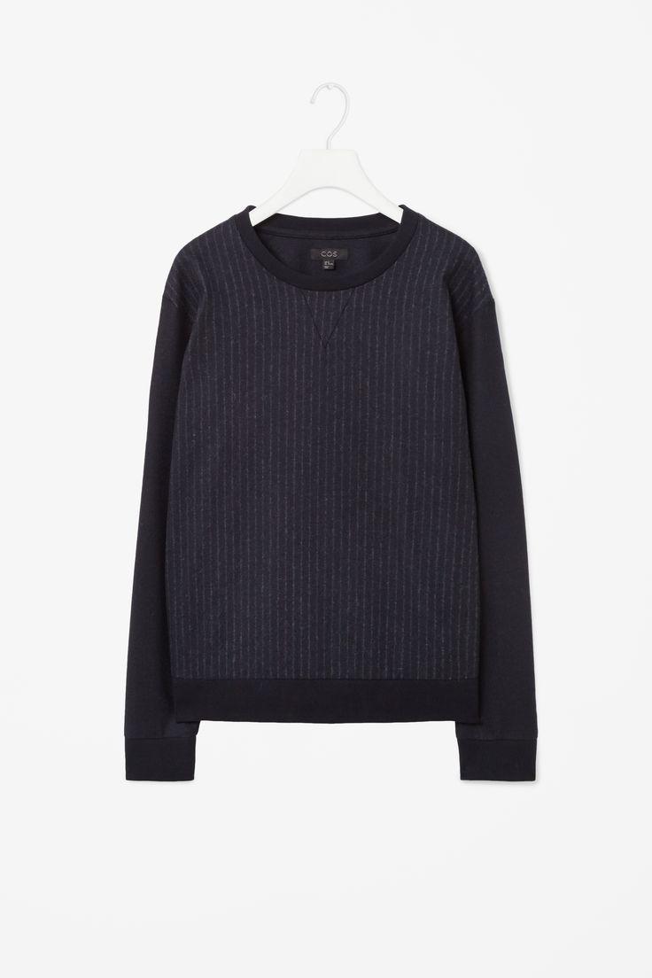 Pinstripe wool sweatshirt