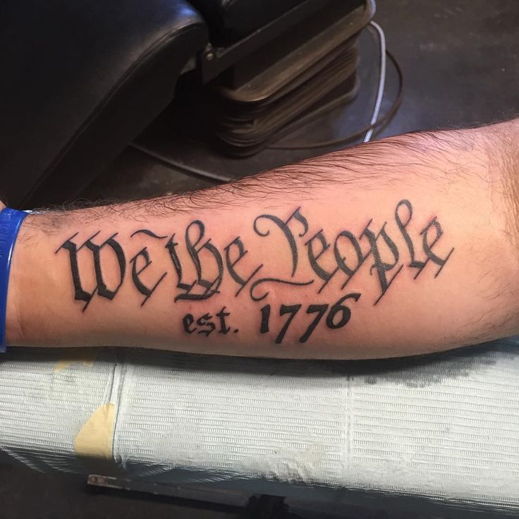 1776 we the people tattoo pictures to pin on pinterest for American revolutionary war tattoos