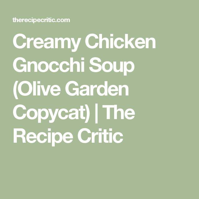 Creamy Chicken Gnocchi Soup (Olive Garden Copycat) | The Recipe Critic