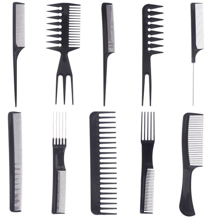 10pcs Hair Styling Hairdressing Make Up Comb Professional Hair Combs Anti Static Barbers Brush Hairbrush Set Beauty Hair Combs